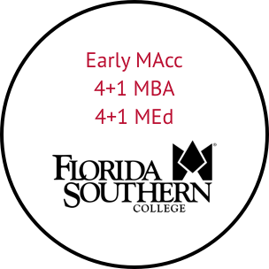early master of accountancy and four plus one master of business administration at florida southern college