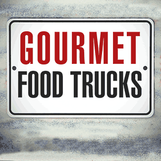 gourmet food truck sign