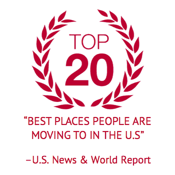 top 20 best places people are moving to in the united states according to U.S. news and world report