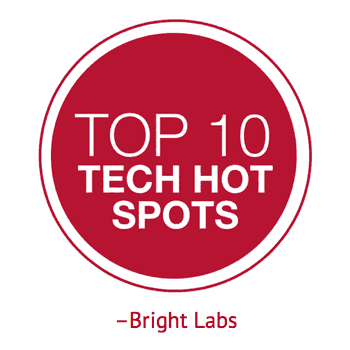 top ten tech hot spots according to bright labs