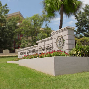 photo of florida southern college corner sign
