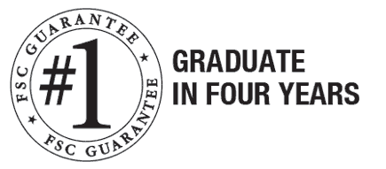 FSC guarantee number 1 is graduate in four years