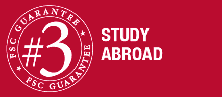 guarantee number three is you will have the opportunity to study abroad