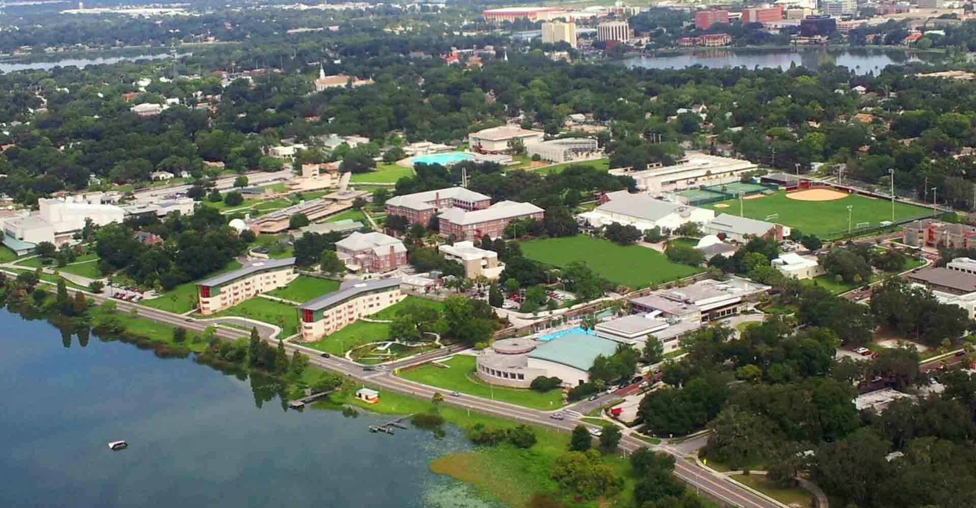 Aerial photo of Florida Southern College