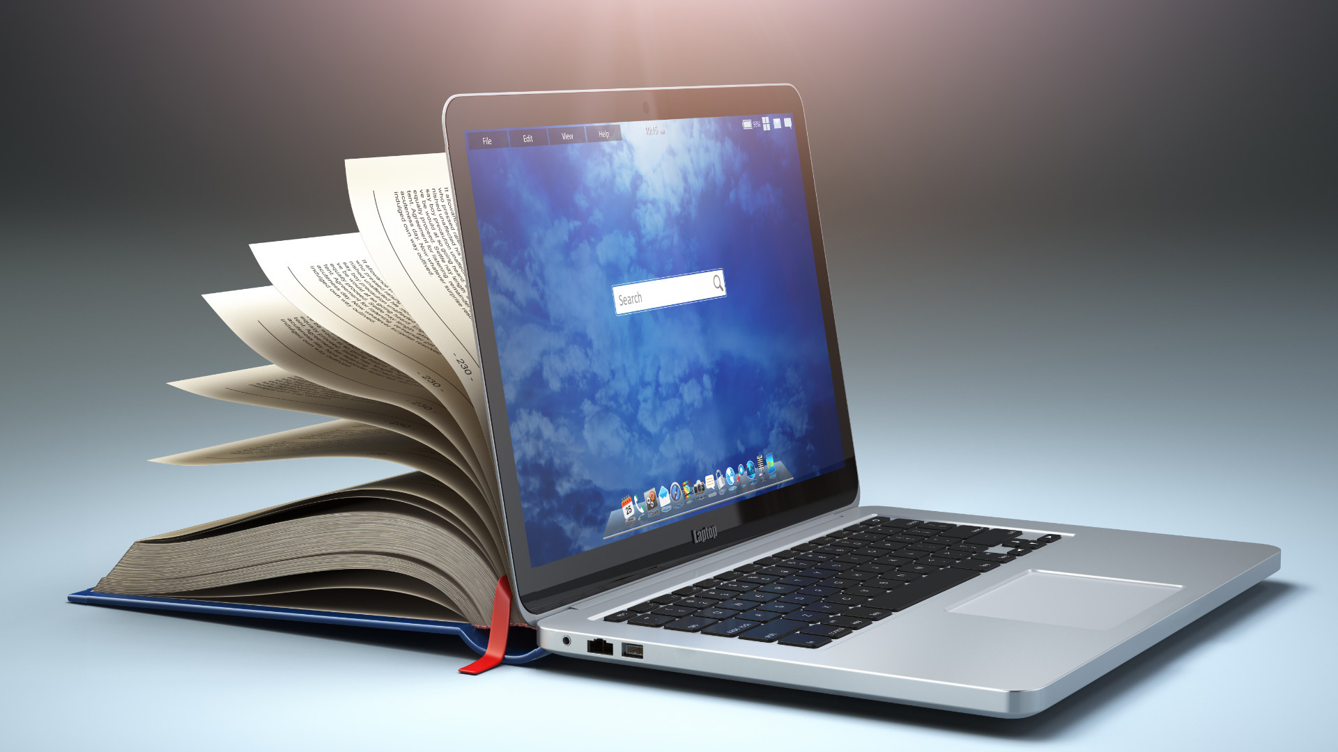 books transforming into laptops
