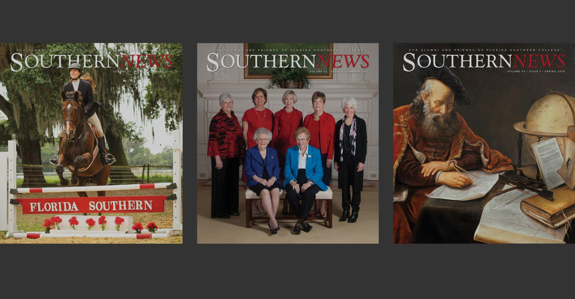 Southern News magazine covers