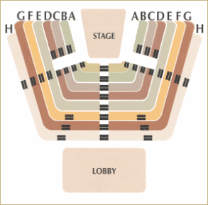 Seating chart for Buckner Theatre