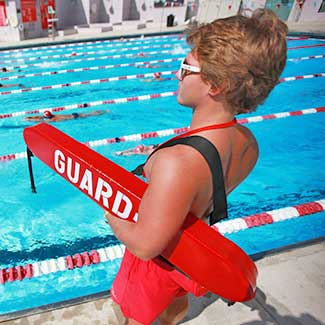 lifeguard at pool