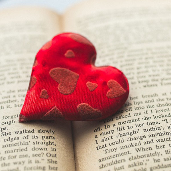 Heart on a book.