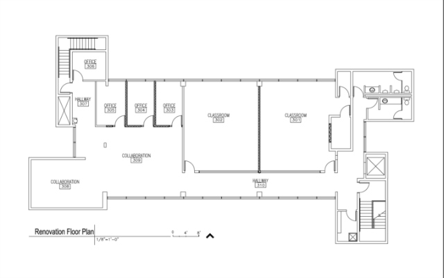 The floor plan for the new computer science department in the Berry Building.