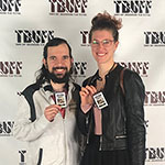 W James '19 (left) and Anica Popadic '20 (right) at the 5th Tampa Bay Underground Film Festival.
