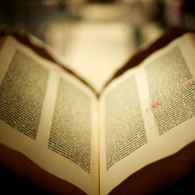 Gutenberg Bible manuscript and rare books on display at FSC