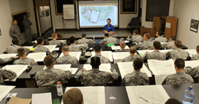 ROTC Cadets in the classroom