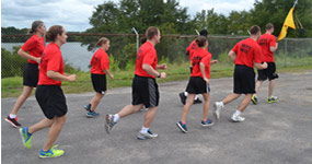 Cadets participating in athletics