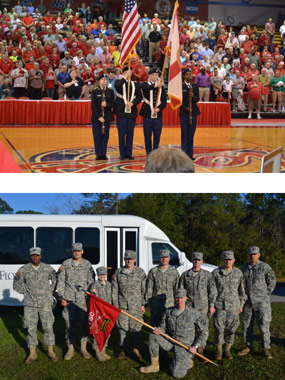 Cadets participating in events and teams