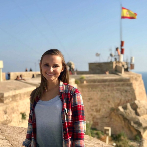 Ashleigh Stinson on her study abroad trip to Spain.