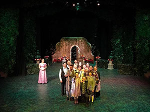 The cast of The Secret Garden on stage
