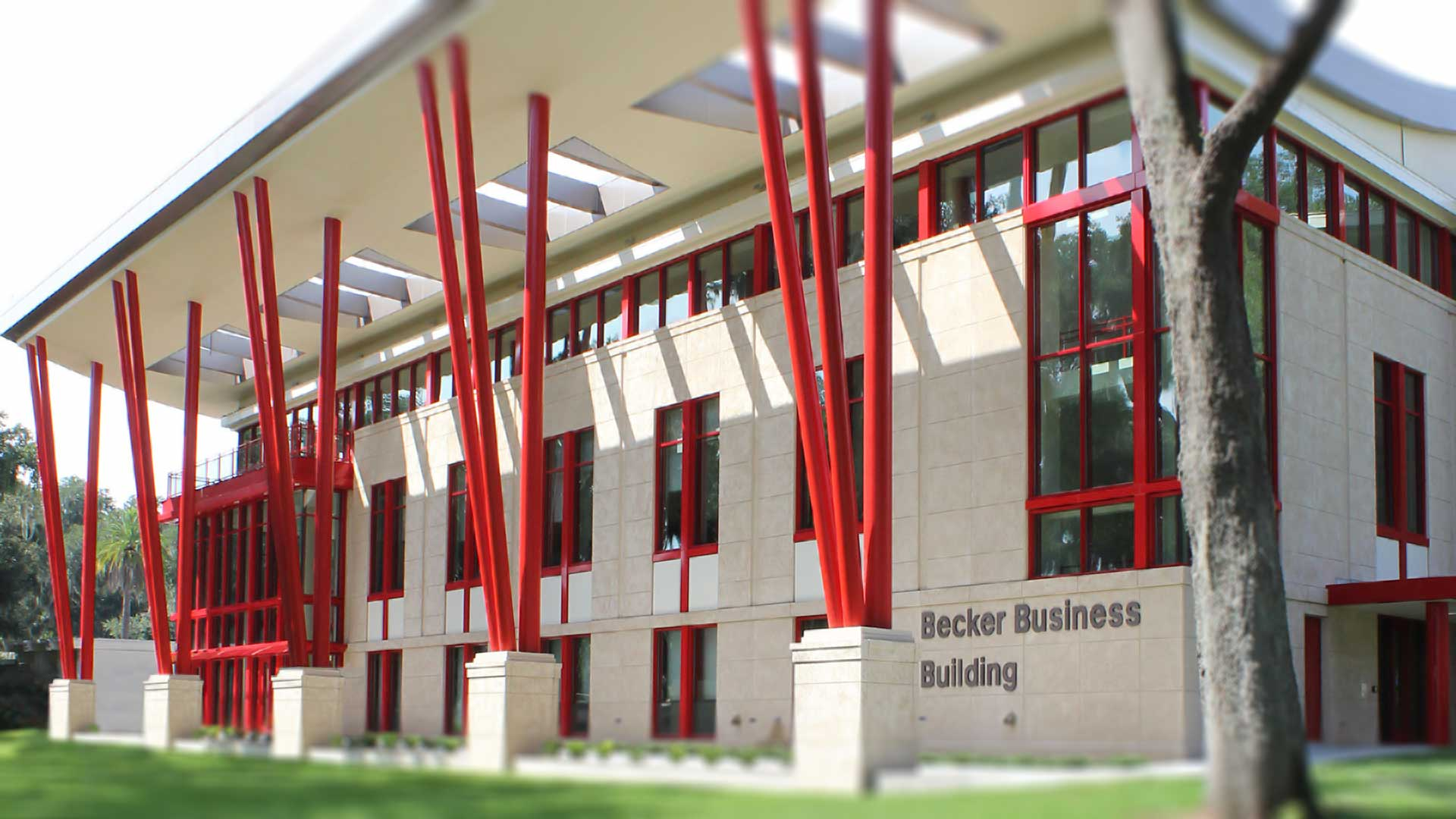 photo of the becker business building
