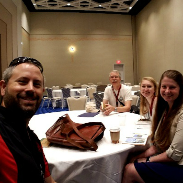 At the Bahamas National Trust Conference.  From left to right: Dr. Gabe Langford, Dr. Eric Kjellmark, Alexandra Weot and Kaitlin Brittain.