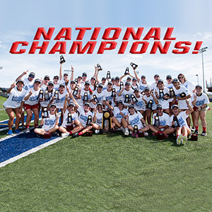 Women's Lacrosse Team Wins National Championship!