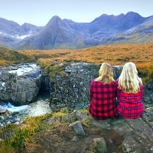 Two students in the Isle of Skye