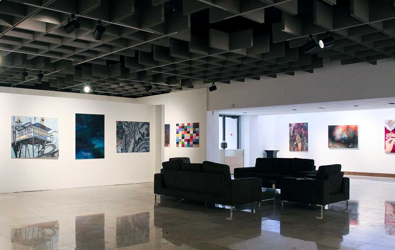 interior photo of the melvin art gallery