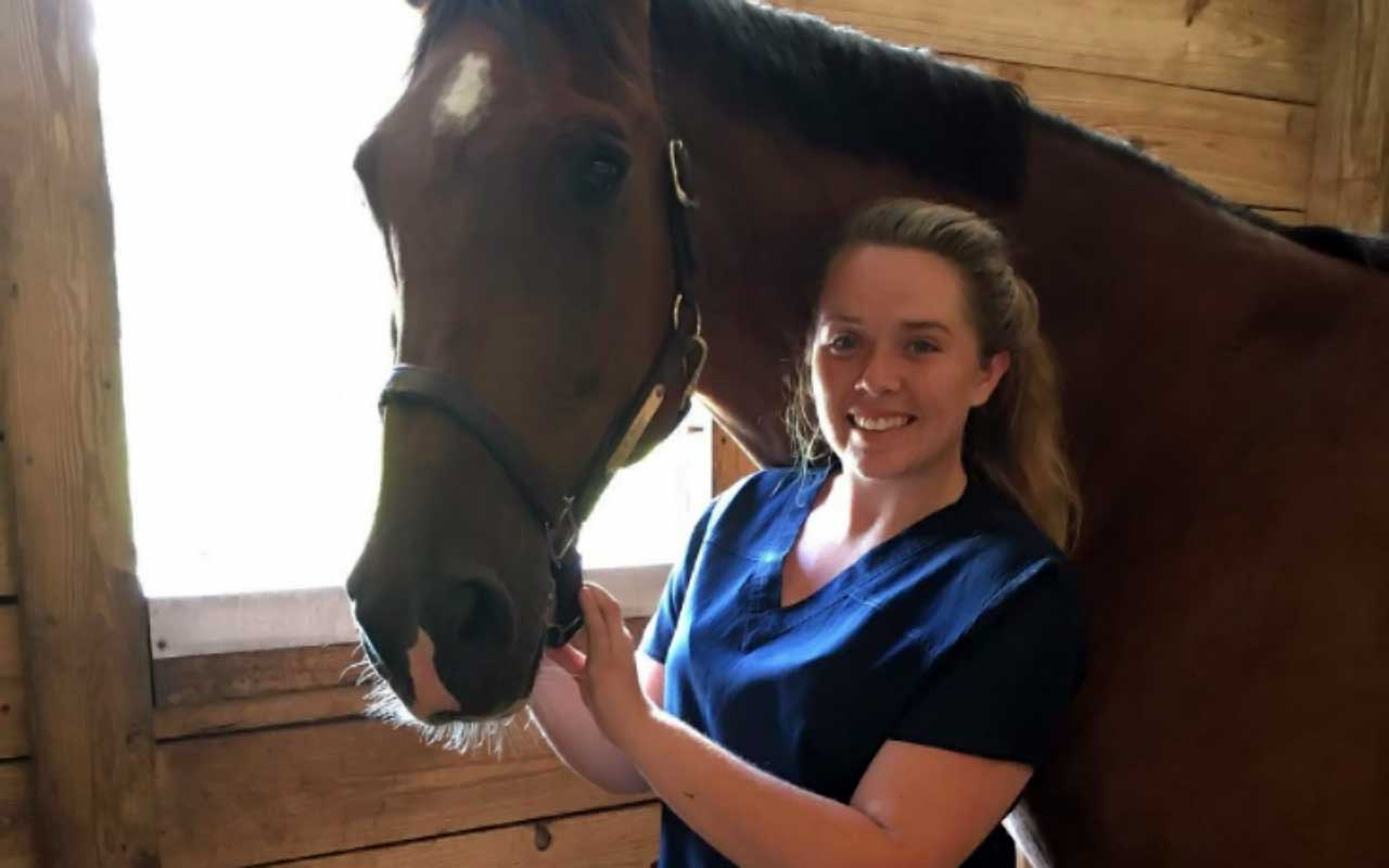 Hannah and one of the horses she worked with.
