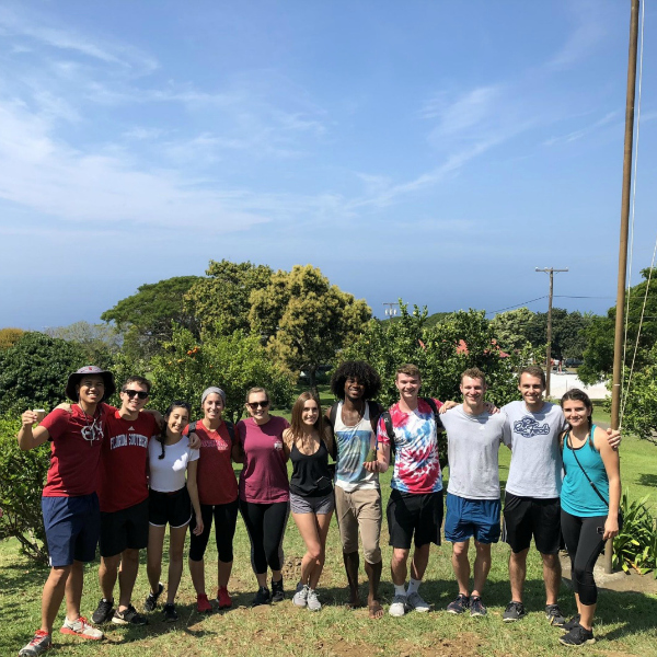 FSC students at the Greenwell Coffee Farm, Hawai'i