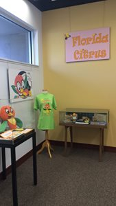 Back corner of the Orange Bird display