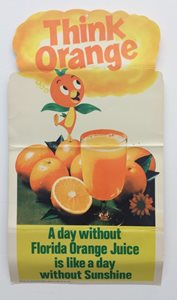 """Think Orange"" Orange Bird poster"