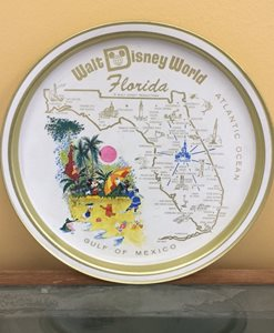 Walt Disney World plate with Florida map