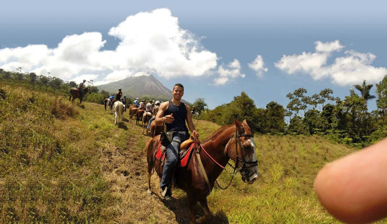 students on horseback on one of the junior journey study abroad trips